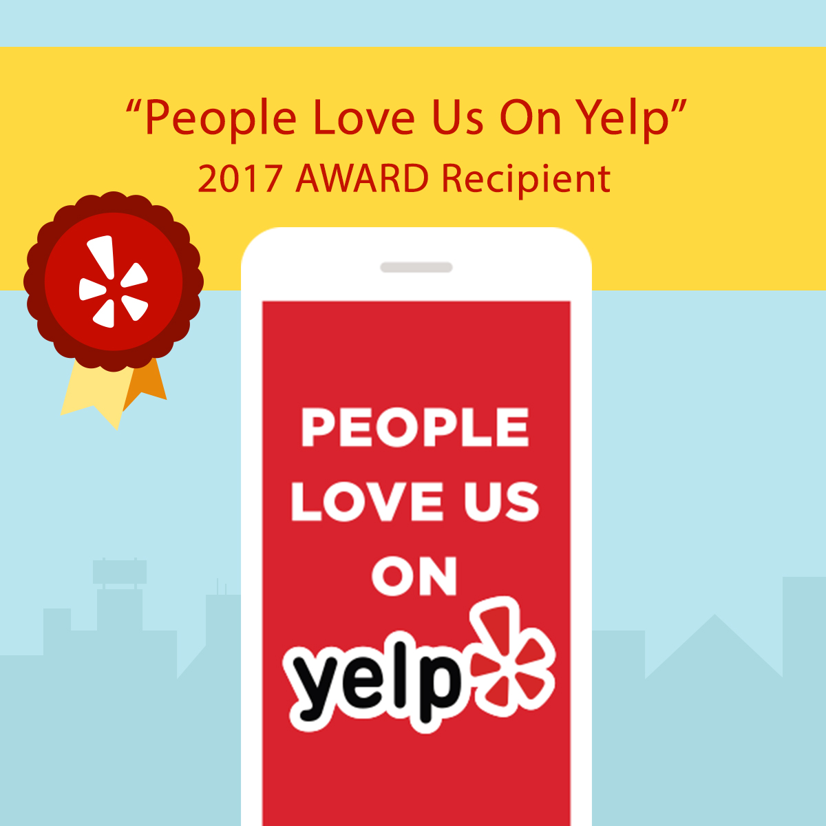 Winner 2017 YELP Award